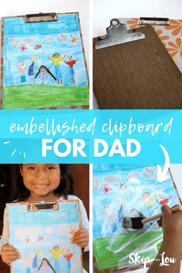 embellished clipboard for dad PIN