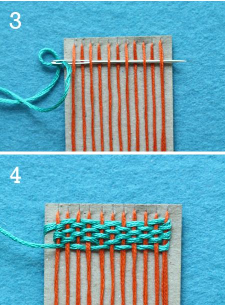 Miniature Weaving {Craft Camp}
