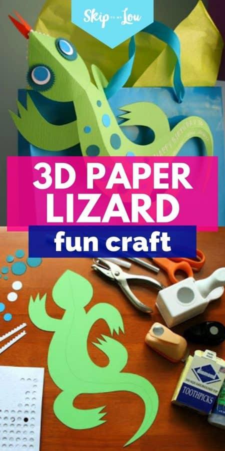 paper lizard fun craft PIN