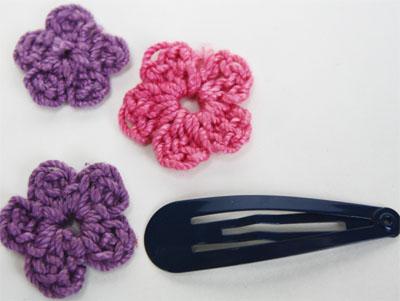 Easy Crochet Flower Clip Skip To My Lou