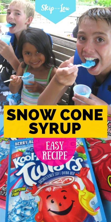 snow cone syrup recipe PIN