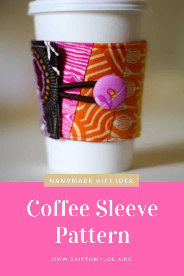 Fabric Coffee Sleeve Pattern Pinterest Graphic