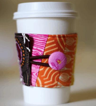 Fabric Coffee Sleeve Tutorial