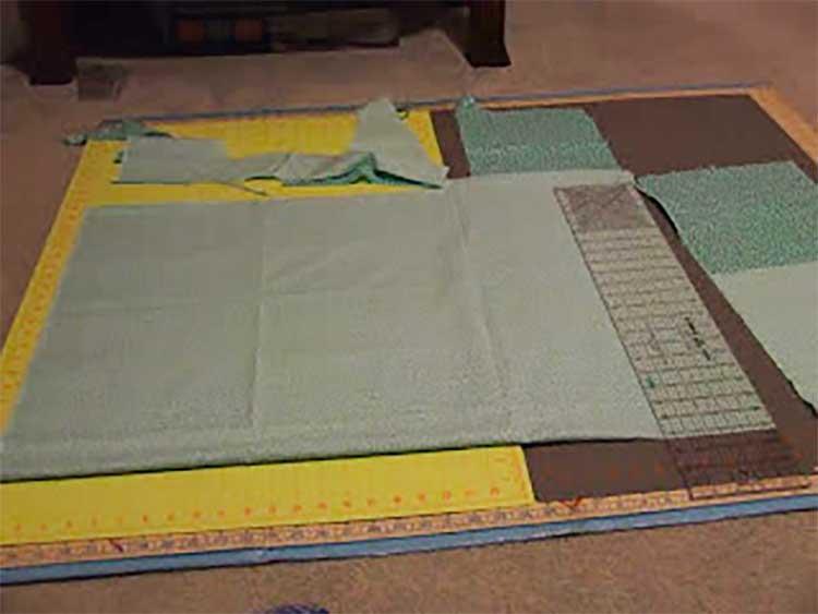 cut fabric for pillowcase dress
