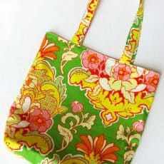 flowered tote bag