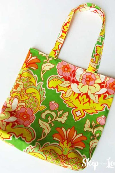 flowered tote bag