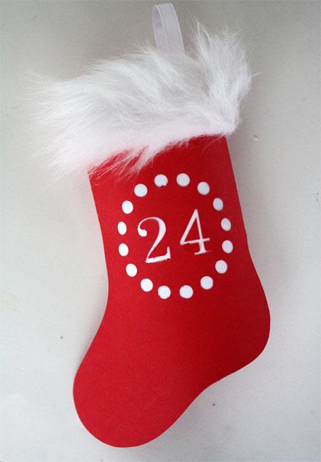 printable stocking advent calendar