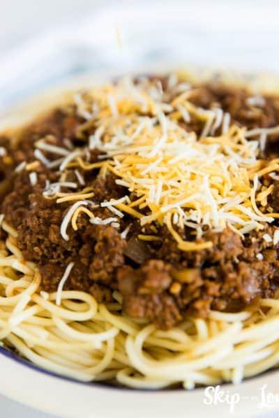 bowl of Cincinnati chili