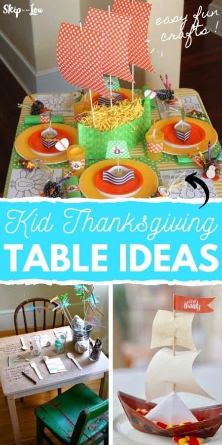 kid thanksgiving table ideas PIN