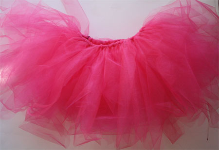 completed DIY pink tutu