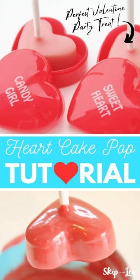 heart cake pops tutorial PIN