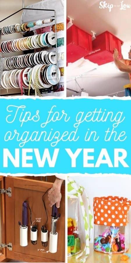 new year organization tips PIN
