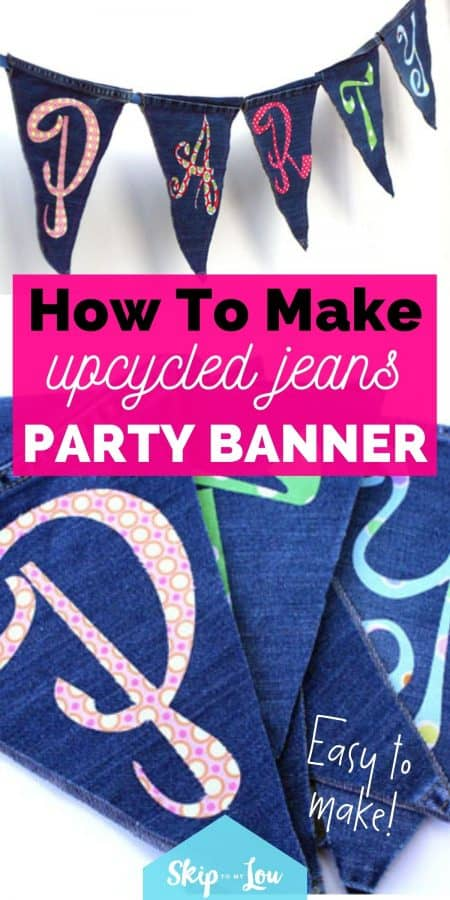 jeans party banner PIN