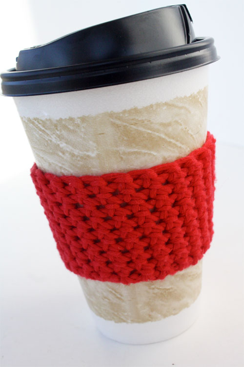 How to make a Crochet Coffee Cozy tutorial {Giveaway} CLOSED | Skip To ...