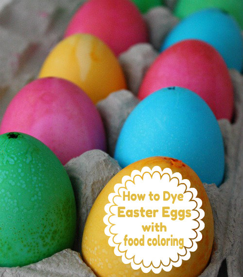 How to dye eggs with food coloring | Skip To My Lou