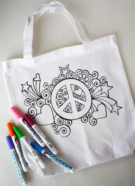 DIY Graffiti Tote | Skip To My Lou