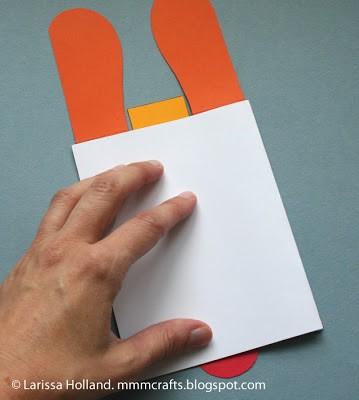 Puppy card pressing glue down
