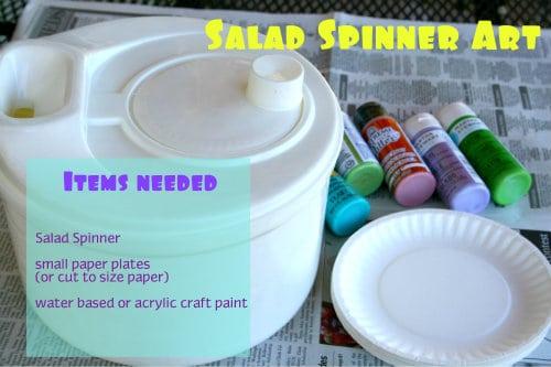 salad spinner spin art supply list