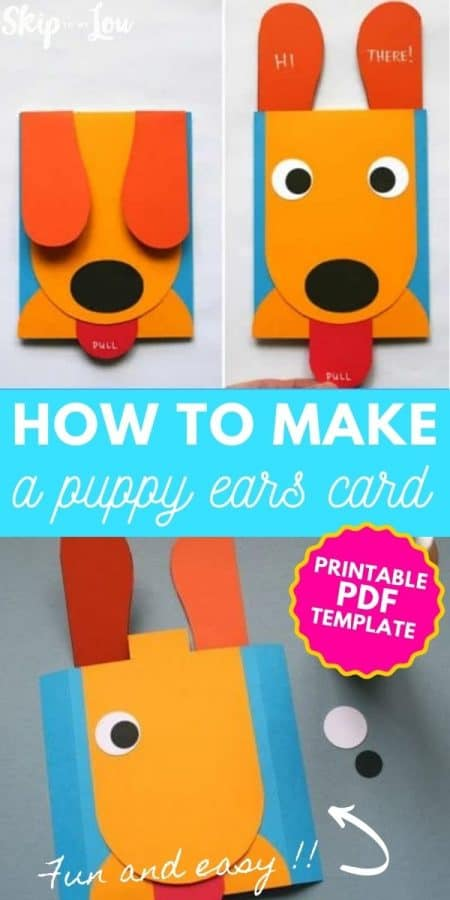 puppy ears card craft PIN