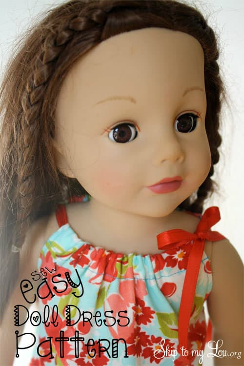 american girl doll clothes  easy doll dress to sew