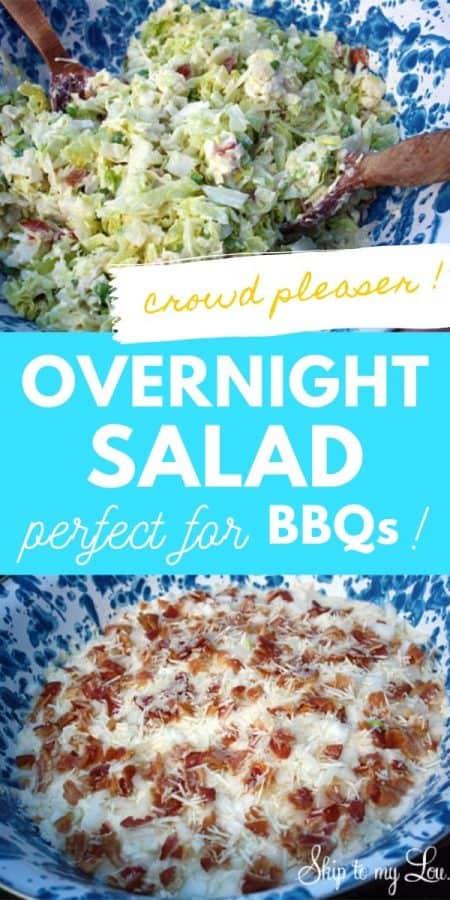 overnight salad recipe PIN
