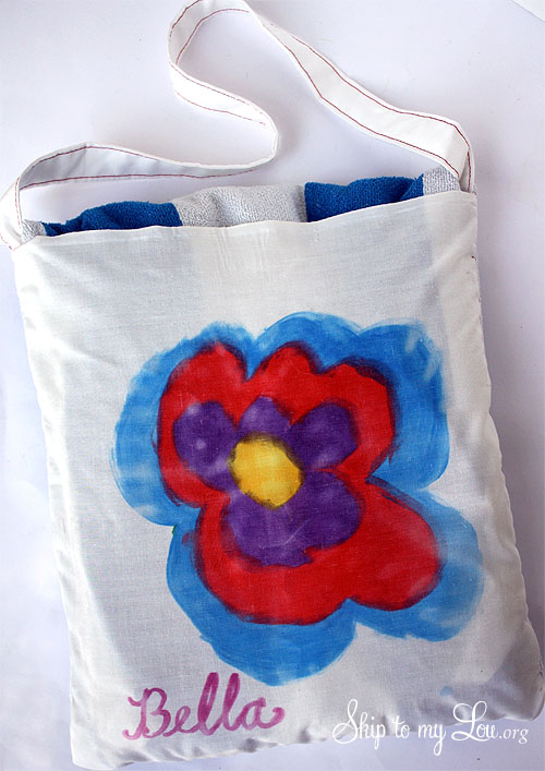 towel tote beach bag