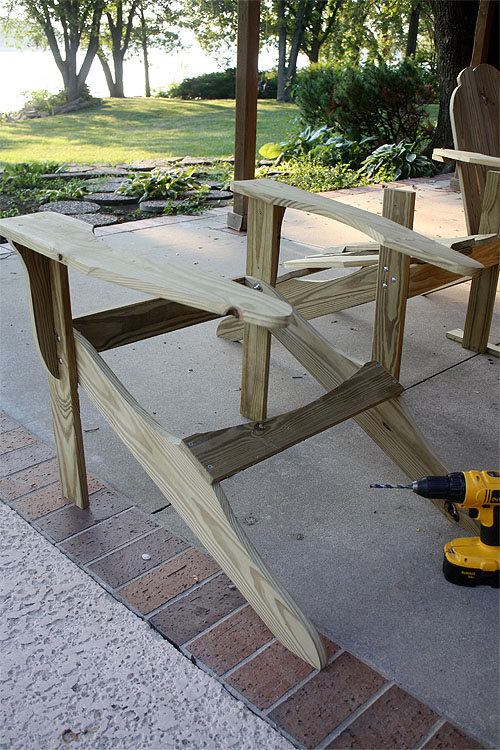 building adirondack chair