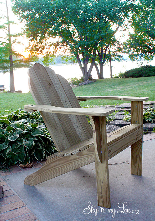 Free Adirondack Chair Plan {Printable} | Skip To My Lou