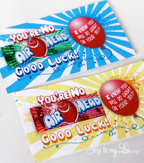 Encourage your child before a test with this fun printable ...