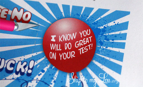 Encourage your child before a test with this fun printable