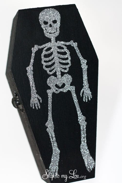 Glitter Skeleton Coffin Boxes