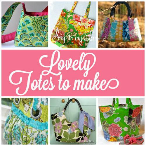 Free Tote Bag Tutorials Delectable Free Handbag Patterns