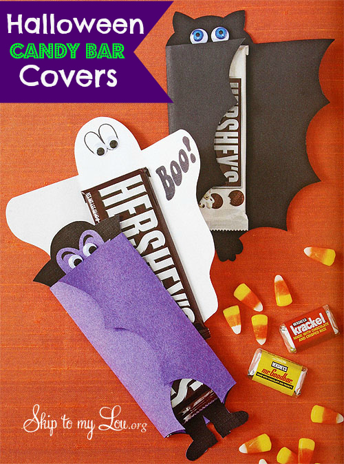 halloween candy bar covers