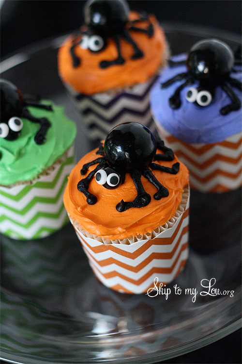 how to make spider cupcakes for halloween
