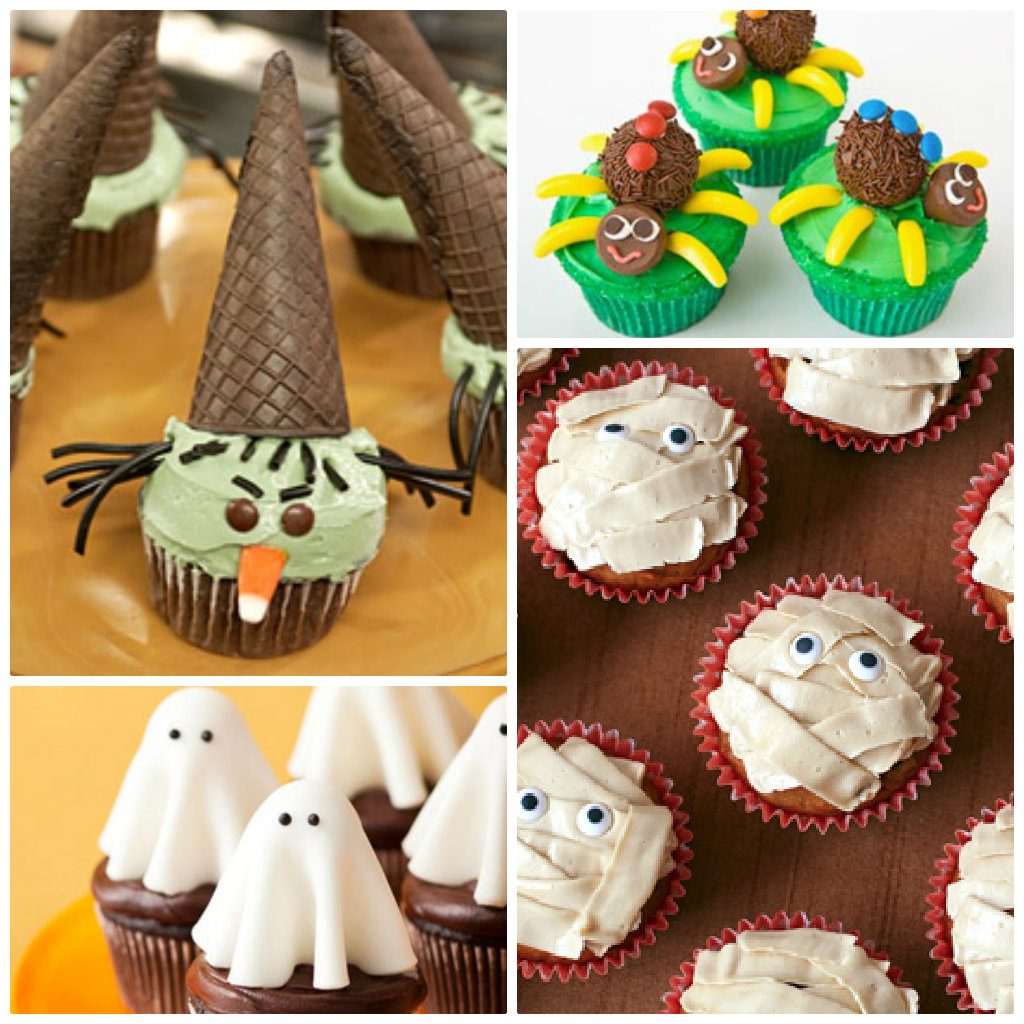 witch cupcakes - Martha Stewart Halloween Cakes