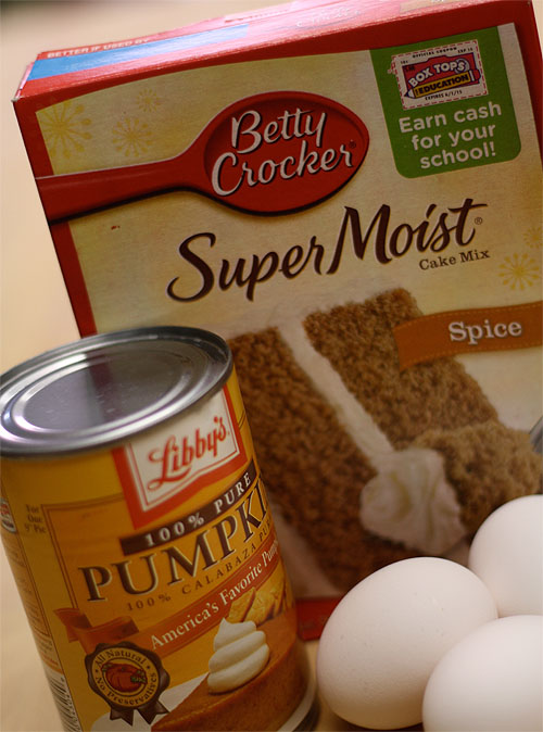 Cake Mix And A Can Of Pumpkin Muffins