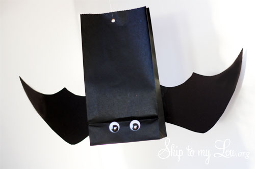 hanging bat party favor bag