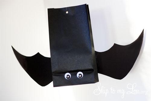 hanging bat party favor bag