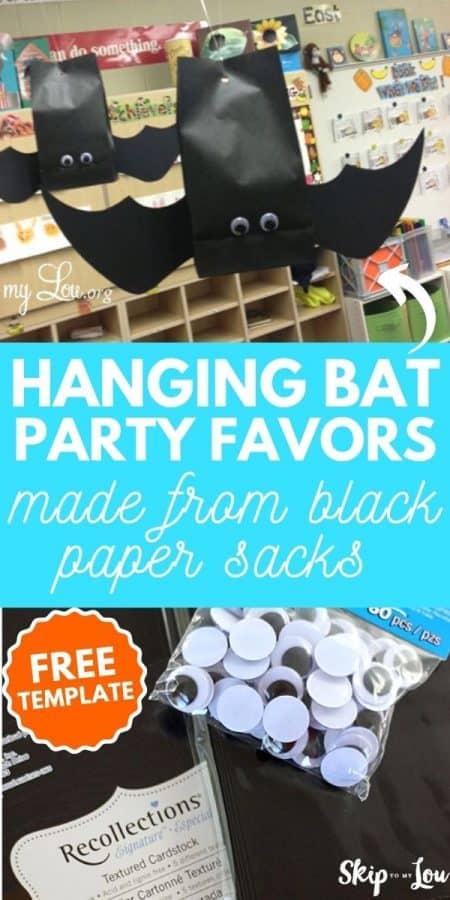 hanging bat party favors PIN