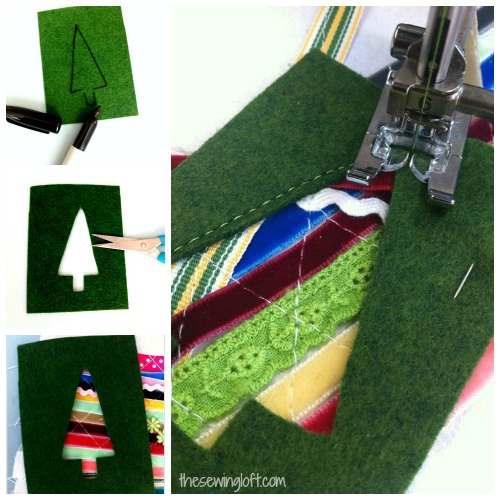 ribbon fabric into gift card holder #diy #sewing #gift