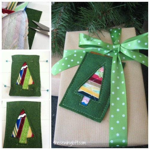 ribbon gift card holder by thesewingloft.com #diy #sewing #gift
