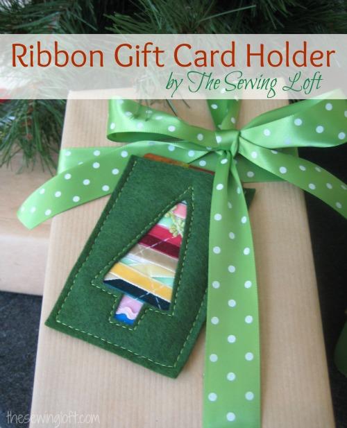 Ribbon Gift Card Holder The Sewing Loft