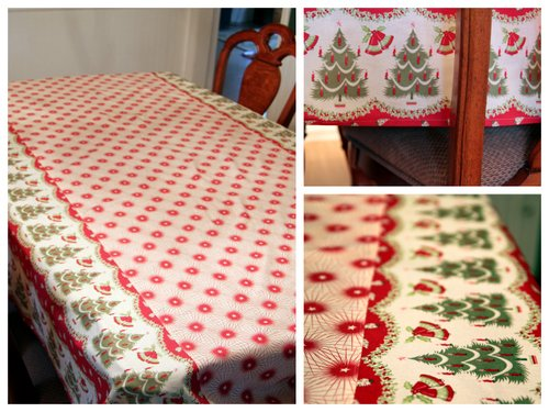 A Pretty New Tablecloth Just In Time For The Holidays. I Wish I Had Some Of  My Christmas Decor Out To Show You How It ...