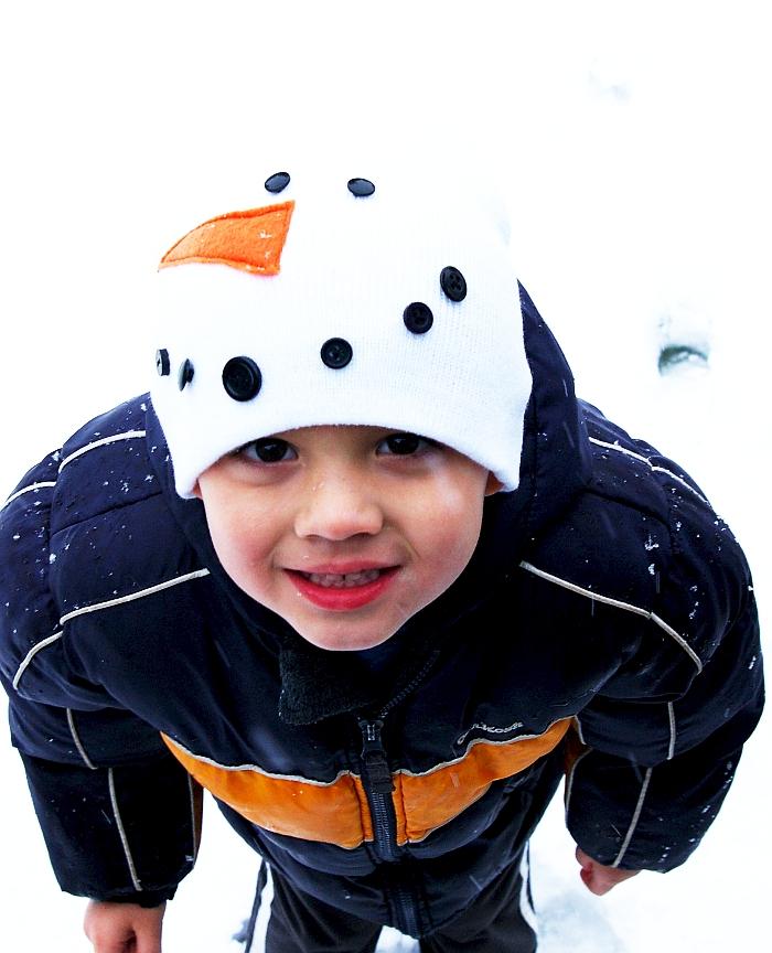 Kids snowman winter hat  0996947ae5f