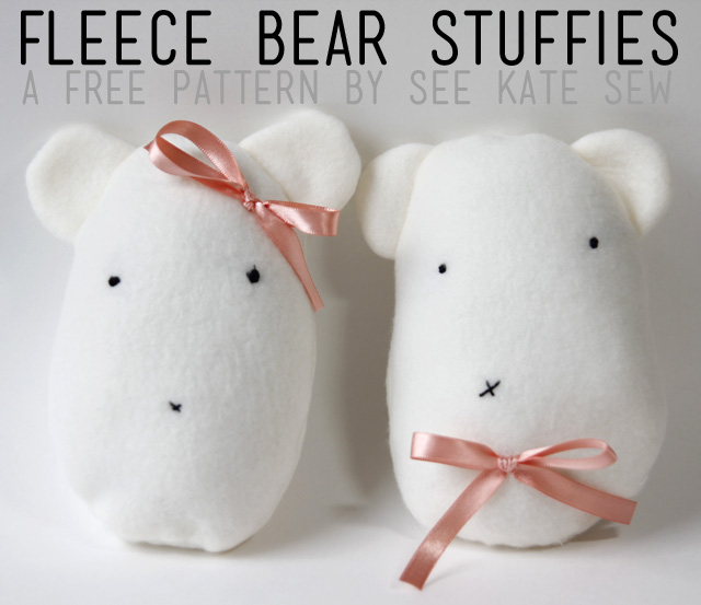 plush pattern fleece bear stuffies