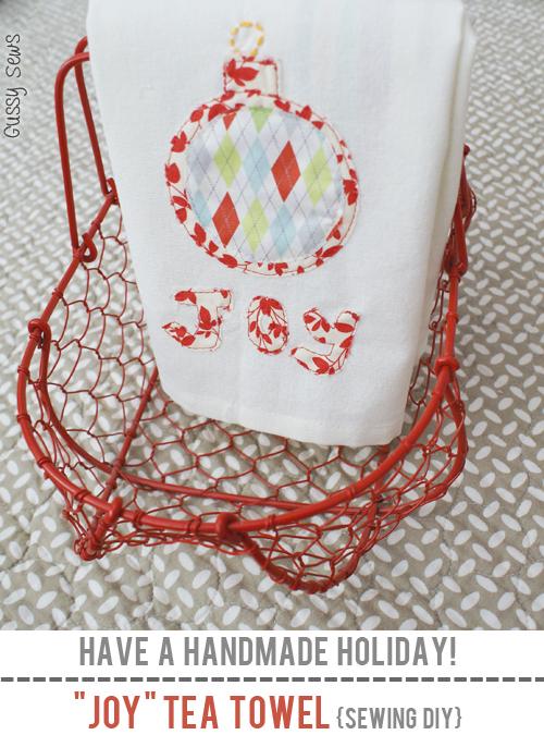 Joy Tea Towel {Sewing DIY} | Skip To My Lou