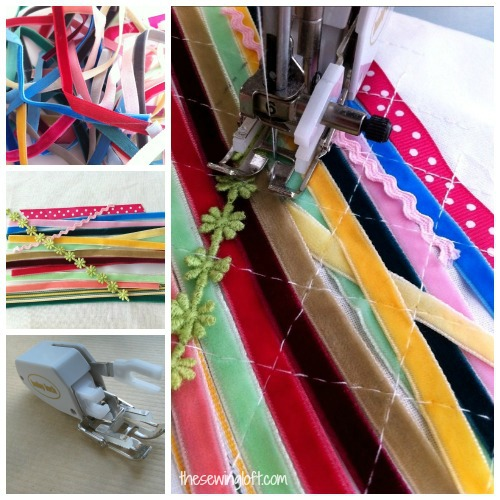easy ribbon fabric by thesewingloft.com #diy #sewing #scraps