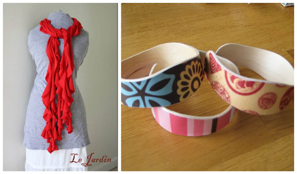 Frilly scarfs and bracelets