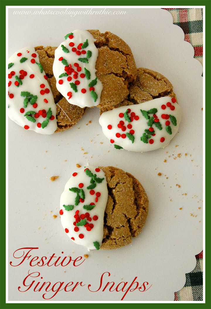Festive Ginger Snap Cookies Skip To My Lou