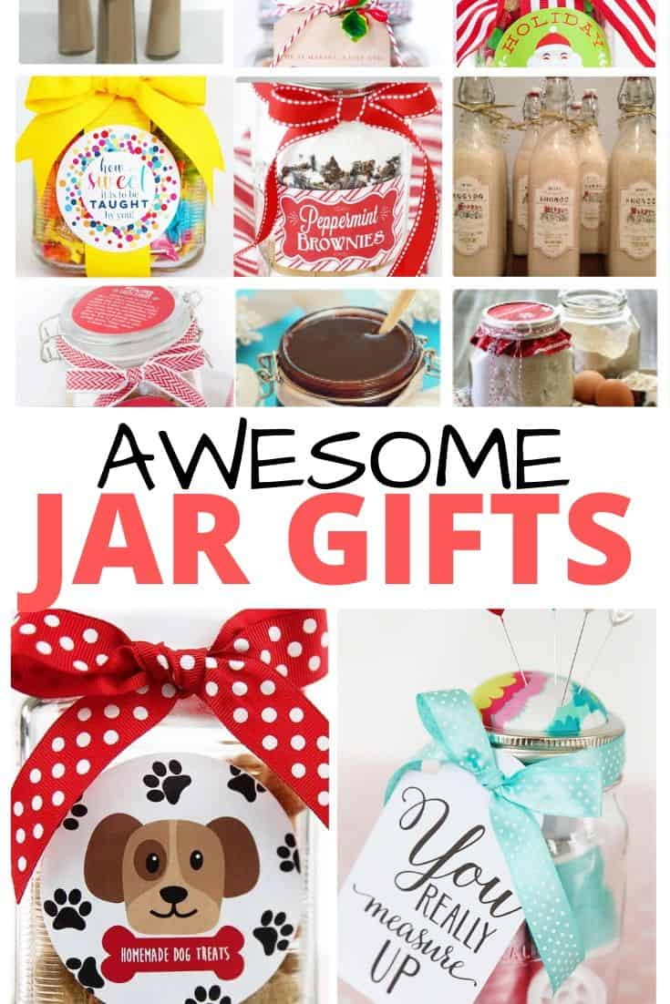 collage of jar gifts